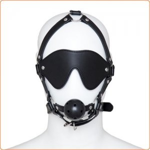 Harness gag med blindfold
